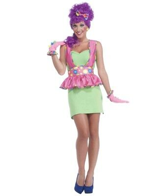 Women's Circus Sweetie Pink Costume Accessory Clown Apron And Polka Dot Belt