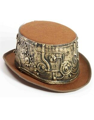 Deluxe Steampunk Cowboy Industrial Brown Costume Bell Topper Top Hat