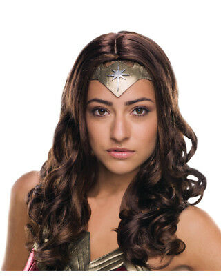 Adult Womens Deluxe Wonder Woman Batman V Superman Wig Costume Accessory