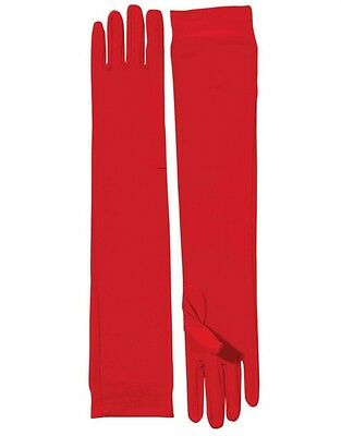 Adult Red Roaring 20s Costume Formal Elbow Length Long Nylon Dress Gloves