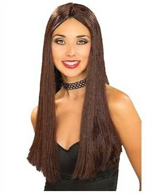 Adult Womens Costume Long Brown Straight Vampire or Hippie Wig