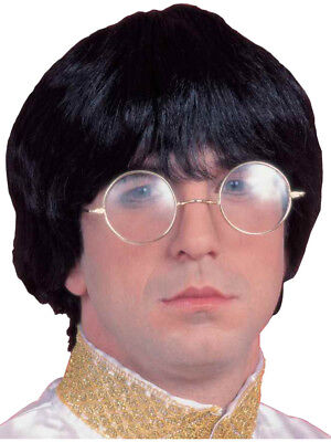 Adult Mens Costume Black Groovy Guy 60s Beatle Mop Wig