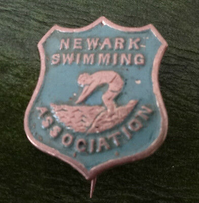 Newwark Swimming Ass  Enamel Lapel Badge