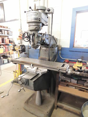 "Bridgeport Vertical Milling Machine 9"" x 42"" Table 1 HP"
