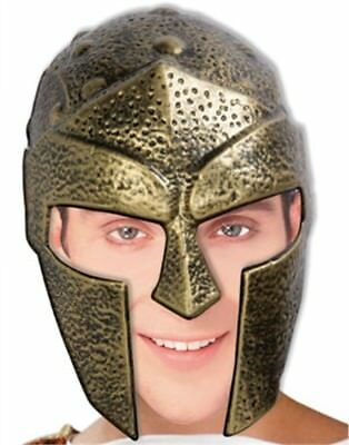 Adult Men's Gold Roman Trojan Gladiator Costume Helmet
