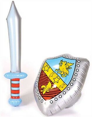 Inflatable Costume Accessory Knight Shield & Sword Set
