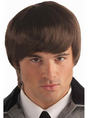 Adult Mens Costume Brown Groovy Guy 60s Beatle Mop Wig