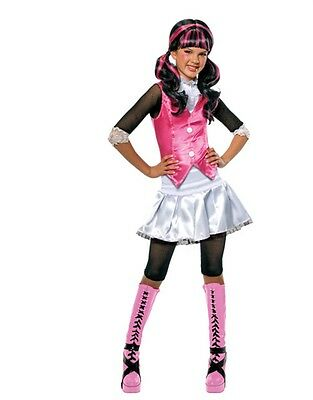 Monster High Draculaura Child's Black And Pink Costume Wig