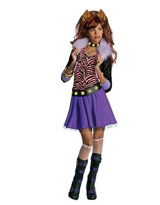 Monster High Clawdeen Wolf Child's Brown And Red Costume Wig