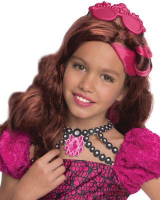 Child's Ever After High Briar Beauty Wig With Headpiece Costume Accessory