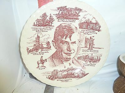 Will Rogers Plate , By Vernon Kilns Of California - One Ding At Around 12:30 Pos