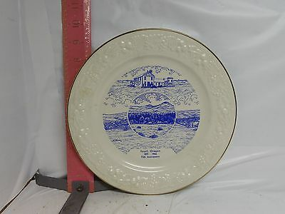 Fossil , Oregon 75Th Anniversary Plate - 1966 By World Wide Arts - No Damage!