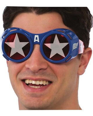 Adults Mens Marvel Captain America Goggles Costume Accessory