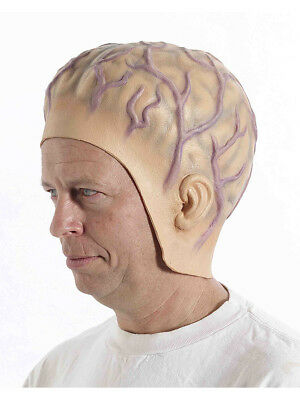 Adult Veiny Alien Brain Headpiece Extra Terrestrial Space Invader Accessory