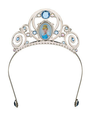 Child's Girls Deluxe Disney Princess Cinderella Blue Tiara Costume Accessory