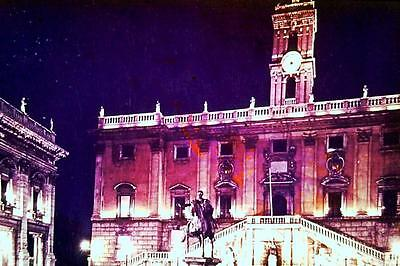 35mm Colour Slide- Italy - Rome by Night - The Capital 1960's