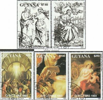Guyana 4238-4242 (complete issue) used 1993 christmas: Painting
