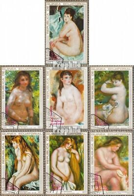 Equatorial Guinea 208-214 fine used / cancelled 1973 Paintings of Renoir
