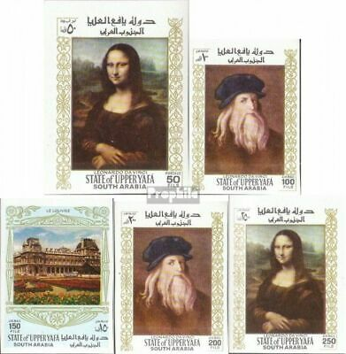 Aden - Upper Yafa 23B-27B mint never hinged mnh 1967 Paintings out the Louvre
