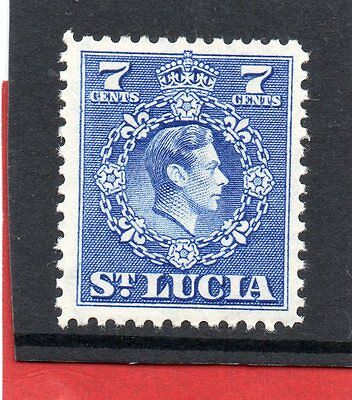 St.LUCIA GV1 1949-50 new currency 7c  sg 152 H.MINT