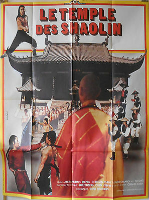 SHAOLIN TEMPLE 47x63 French 1976 KUNG FU