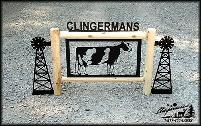 Cows-Holsteins-Farm & Country-Windmills-Clingermans Outdoor Signs-Dairy Cows*