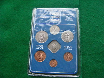 States Of Jersey Official 1981 Coin Set