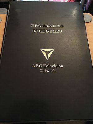 ABC Television 1950s Very Rare Programme Schedule Binder with 2 Schedules