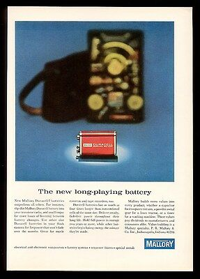 1965 Duracell Mercury battery photo Mallory vintage print ad