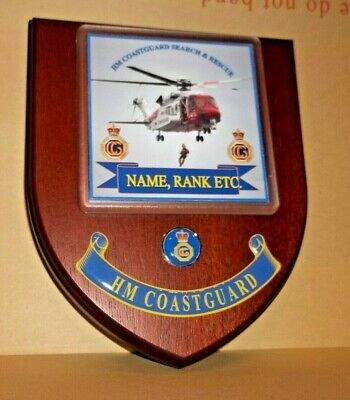 HM Coast Guard Wall Plaque personalised