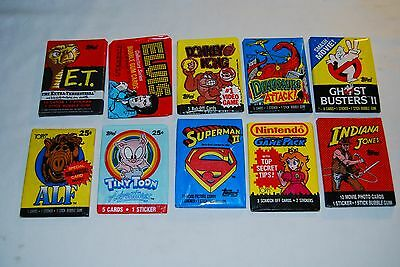 Vintage Unopened Wax Pack Lot #8 Non-Sport Trading Cards Indiana Jones Superman