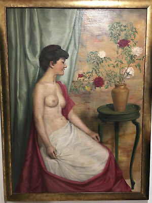 Oil Painting of Nude Woman Unknown 19th Century French School