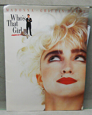 1987 Movie Press Kit Who's That Girl Madonna Griffin Dunne.