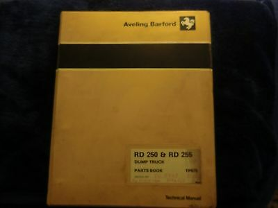 Aveling Barford, RD 250 & RD255 Dump Truck  Parts Book.