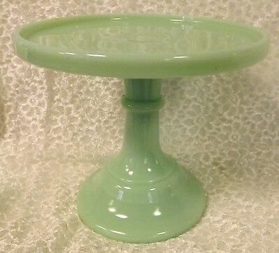 """Jade Glass Plain & Simple Pattern Pastry Tray - Cake Plate - 6"""""""