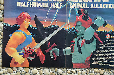 Vintage 1985 Early THUNDERCATS LJN Toy 2 page Magazine Promotional Advertisement