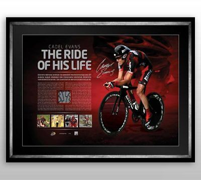 Cadel Evans Hand Signed And Framed 2011 'ride Of His Life' Tour De France Print