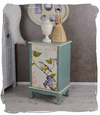 bedside table shabby chic bedside table bedside cabinet Rose Painting Wardrobe