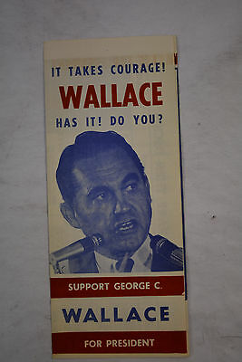 1968 George Wallace For President Pamphlet Campaign Compare Then Decide