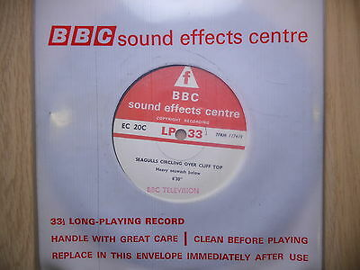 "BBC Sound Effects 7"" Record - Seagulls on Cliff Top, Dawn in a Suburban Garden"
