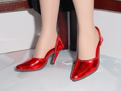"Doll Shoes, 64mm for 21"" MA CISSY - Monique ""Easy to Wear"" - Red Metallic"