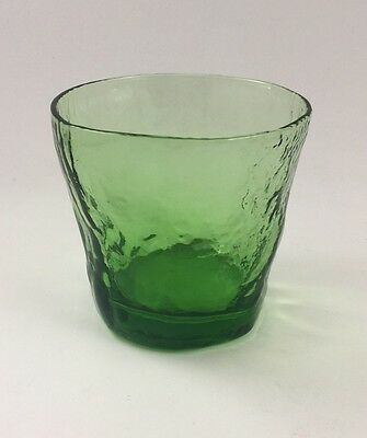 Morgantown Crinkle Glass Green Double Old Fashioned Tumbler 12 Available