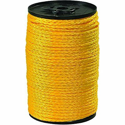 USA Hollow Braided Polypropylene Rope 3/8in 2100lb Yellow 1000ft per Case