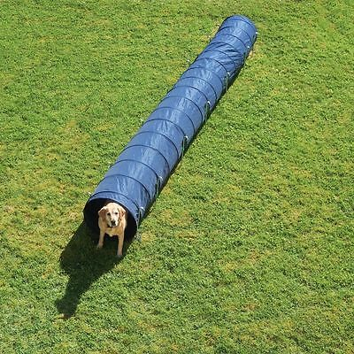 Dog Agility Tunnel Activity 60 cm x 5m Blue Fit & Healthy strong & sturdy