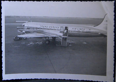 B&W Photo: Malton Airport (Toronto) - Trans-Canada Air Lines 1953 Picture