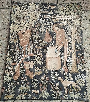 Antique French Tapestry - 92 By124 Cm