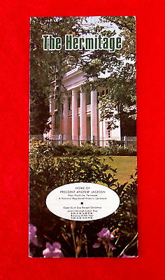 The Hermitage Home of President Andrew Jackson Travel Brochure 1978 golc