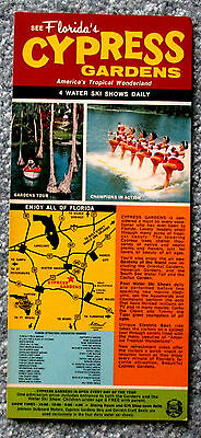 Florida's Cypress Gardens Advertising Card 1970s vintage lsc