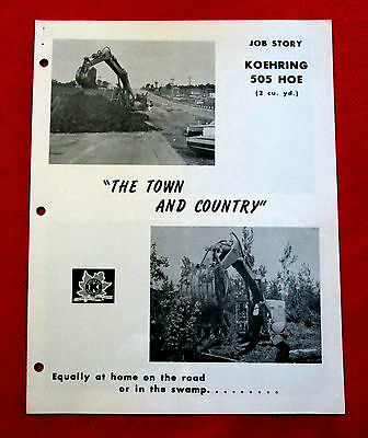 1960s Koehring 505 Hoe The Town&Country Heavy Duty Equipment Job Story golc2