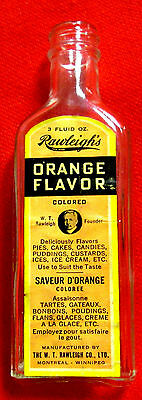 Rawleigh's Orange Flavor Bottle with Label 3 Ounces 6 Inches Tall lsc2